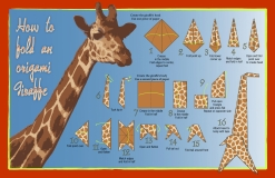 Giraffe origami poster