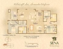 Siena floorplan -brochure page for Siena community development in Denver, CO