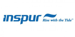 """Inspur Chinese Logo - added """"Rise with the Tide"""" for Western markets"""