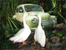 Old French Car - Photoshop montage & Corel Painter