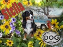 Stella & Old Blue - Photoshop montage & Corel Painter