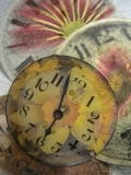 Clocks and Flowers - Photoshop montage